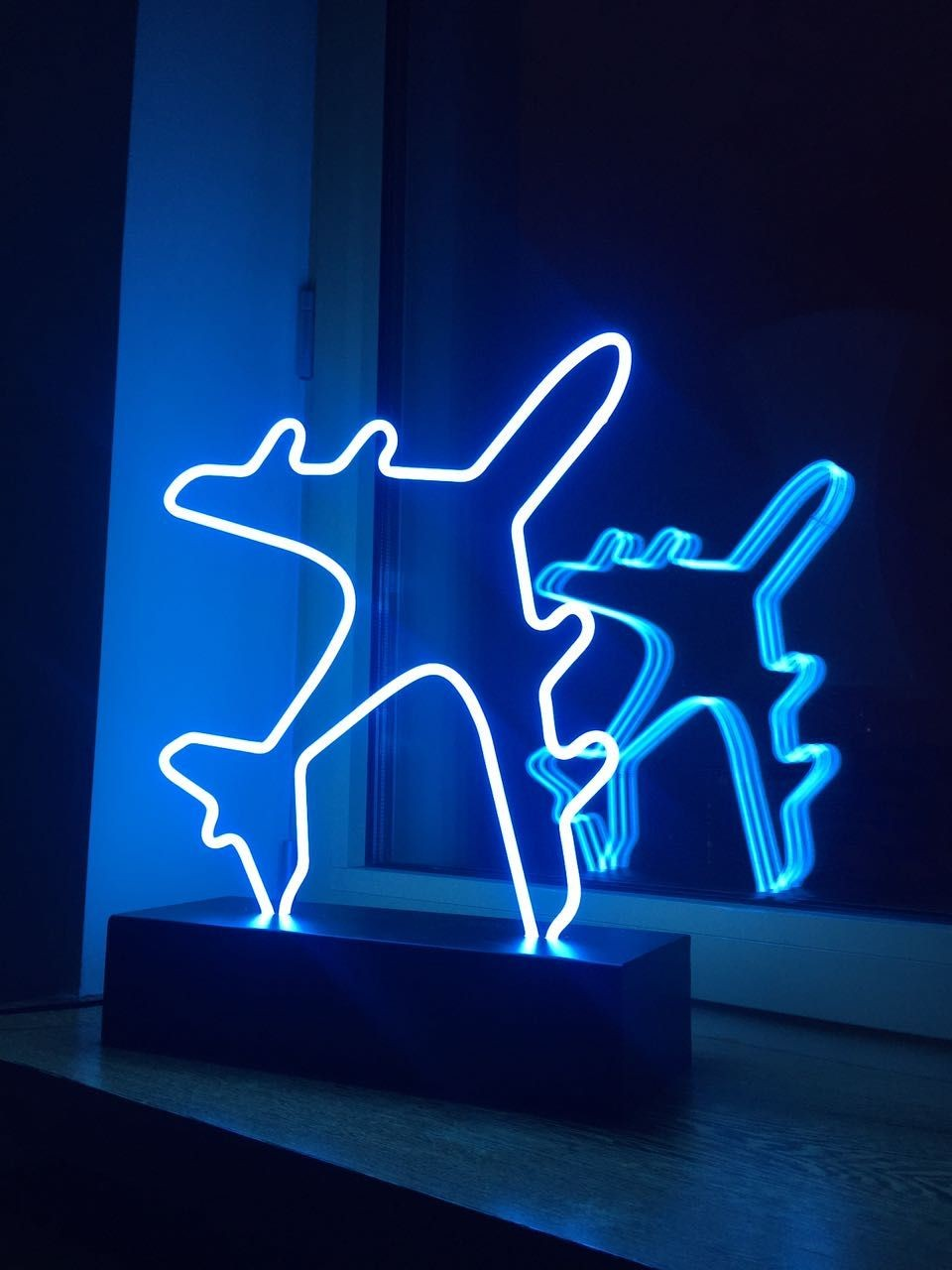 Blue Neon Airplanes Discovered By Nur On We Heart It