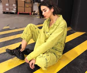 dua lipa, yellow, and lipa image