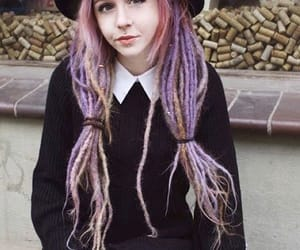 dreadlocks, witch, and purple dreads image
