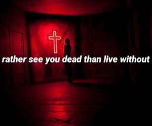 cross, dark, and grunge image
