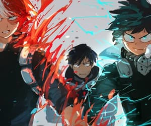 boku no hero academia, midoriya, and todoroki image