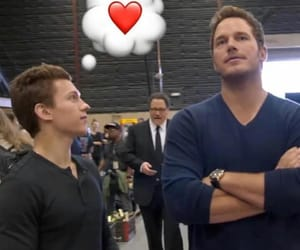 chris pratt and tom holland image