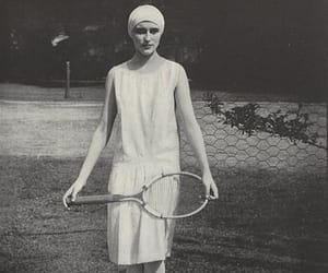 racket, tennis ball, and retro image