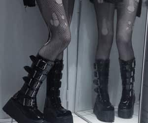 alternative, trad goth, and boots image