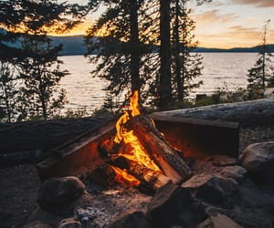 beautiful, camping, and fire image
