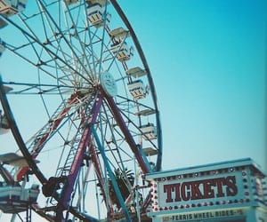 fun, ferris wheel, and summer image