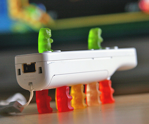 funny, gummy bears, and wii image