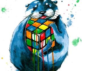 acrylic, art, and otter image
