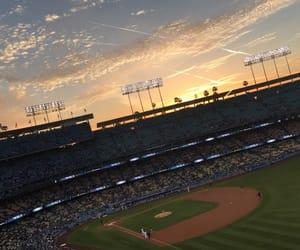 baseball, blue, and dodgers image