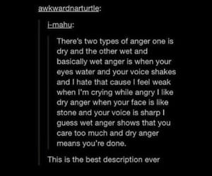 anger, dry, and feelings image