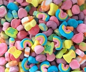 food, lucky charms, and rainbow image