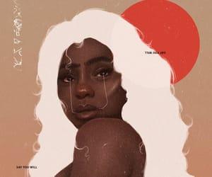 art, black girl, and orange image