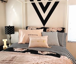 bedroom, sleep, and black image