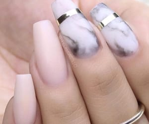 marbre, nails, and ongle image