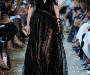 black, black dress, and designer image
