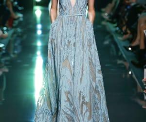 blue dress, designer, and dress image