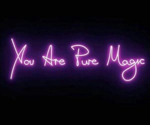 neon, magic, and quotes image
