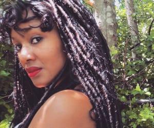 aretha, black, and hair image