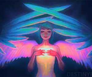 destiny blue and angel heart wings image