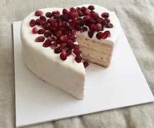 cake, food, and pomegranate image
