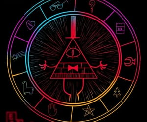 gravity falls, bill, and bill cipher image