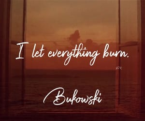Bukowski, pale, and poetry image