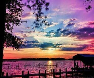 sunset, nature, and sky image