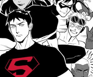 dick grayson, superboy, and robin image
