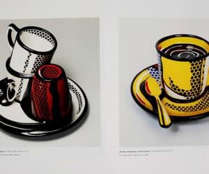 coffee cup, roy lichtenstein, and art image
