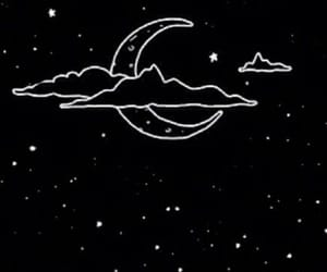 moon, stars, and wallpaper image
