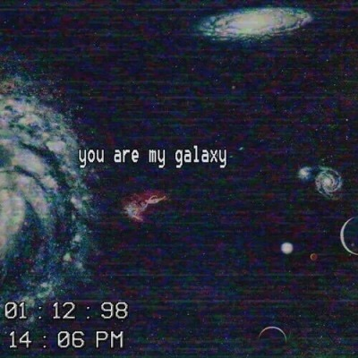 galaxy, quotes, and grunge image