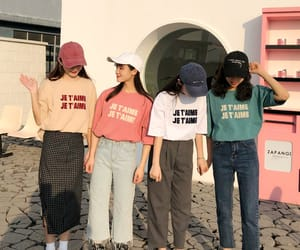 korean fashion, outfit, and pastel image