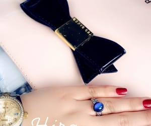 bow, hands, and red nails image