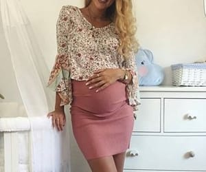 baby, clothes, and mommy image