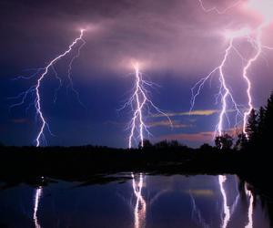 beautiful, lightning, and thunder image