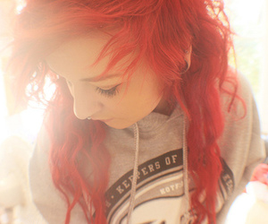 red hair, girl, and spacewolf image