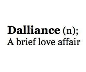 dalliance, words, and love affair image