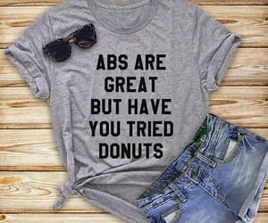 abs, donuts, and funny image