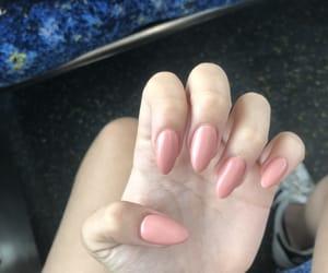 acrylic, long nails, and nail image