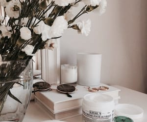flowers, white, and book image
