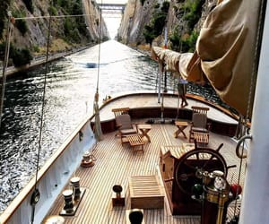 boat, nature, and travel image