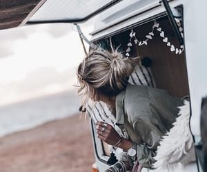 travel, beach, and girl image