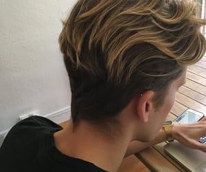 boy, hair, and grunge image