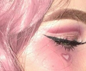 pink, girl, and makeup image