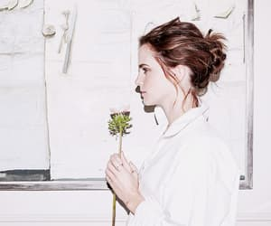 emma watson, flowers, and beauty and the beast image