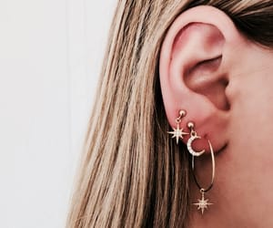 earrings, jewelry, and stars image
