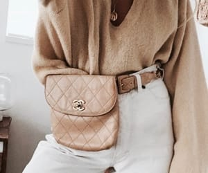fashion, bag, and beige image