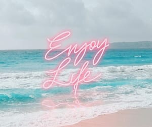 beach, quotes, and wallpaper image