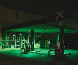 aesthetic, green, and green light image