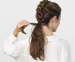aesthetic, braid, and brunette image